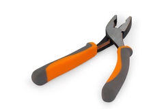 Flat-nose pliers with a fix Royalty Free Stock Image