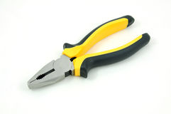 Flat nose pliers on a white background Stock Image