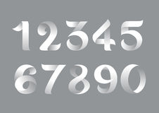 Flat number. Vector style paper Royalty Free Stock Images