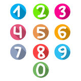 Flat numerals Stock Images