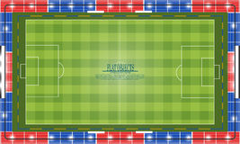 Flat object design set, soccer stadium Royalty Free Stock Photos