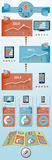 Flat objects infographic Royalty Free Stock Photography