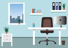 Flat office concept illustration. Vector illustration. stock illustration