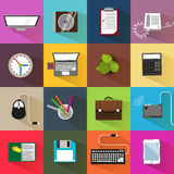 Flat office icons Royalty Free Stock Images