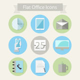 Flat office icons 1 Stock Photos