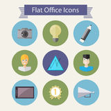 Flat office icons 2 Royalty Free Stock Photo