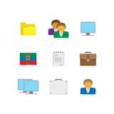 Flat office icons Stock Photos