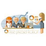 Flat Office Presentation Royalty Free Stock Images