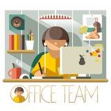 Flat Office Team Designer Stock Photography
