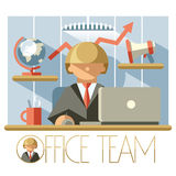 Flat Office Team Director Royalty Free Stock Photo