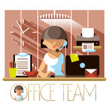 Flat Office Team Support Royalty Free Stock Photo