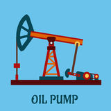 flat oil pump icon Royalty Free Stock Photo