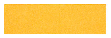 Flat orange rectangular sticky note Royalty Free Stock Images