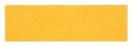 Flat orange rectangular sticky note. Isolated on white background Royalty Free Stock Images