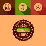 Flat organic products design elements Royalty Free Stock Images
