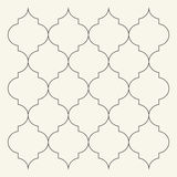 Flat Outline Moroccan Pattern. Tile Template Stock Vector ...