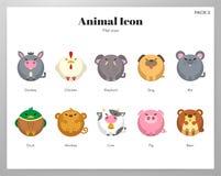 Flat pack animale dell'icona royalty illustrazione gratis
