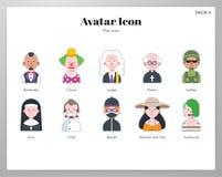Flat pack dell'icona dell'avatar illustrazione vettoriale