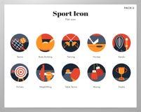 Flat pack delle icone di sport immagine stock libera da diritti