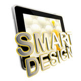 Flat pad screen as a smart design emblem Stock Image