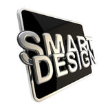 Flat pad screen as a smart design emblem Royalty Free Stock Images