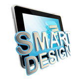 Flat pad screen as a smart design emblem Stock Photo