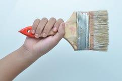 Flat paint brush stock photography