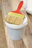 Flat paint brush Stock Photos