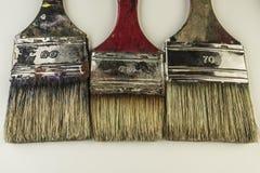 Flat paintbrushes Royalty Free Stock Images