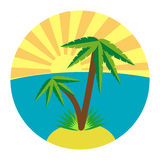 Flat palm icon Royalty Free Stock Image