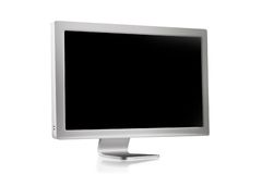 Flat panel. Computer monitor Royalty Free Stock Image
