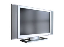 Flat Panel Display. Flat panel plasma LCD television monitor, angled, isolated stock photos