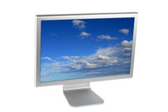 Flat panel lcd computer monitor Stock Images
