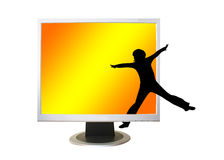 A flat panel lcd computer monitor Royalty Free Stock Images