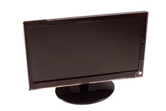Flat Panel Monitor. On a white background Stock Photography