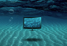 Flat Panel in Sea Stock Images