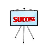 Flat panel with succcess Stock Photos