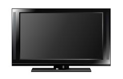 Flat Panel TV. Illustration of a flat screen television Royalty Free Stock Images