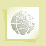 Flat paper cut style icon of globe Royalty Free Stock Image