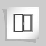 Flat paper cut style icon of modern window Royalty Free Stock Images