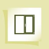 Flat paper cut style icon of modern window Stock Photos