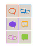 Flat paper s[eech bubble icons Royalty Free Stock Image
