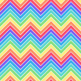 Flat pattern. Simple rainbow colors seamless zig zag pattern Stock Images