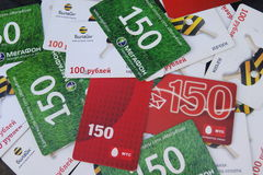 Flat payment card Stock Image