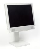 Flat PC Monitor. In 3/4 on white background royalty free stock image