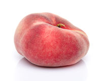 Flat peach fruit Stock Photos