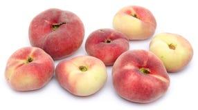 Flat peach fruits Stock Image