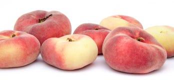 Flat peach fruits Royalty Free Stock Image