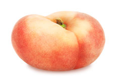 Flat peach isolated on white. Full depth of field. Stock Image