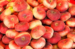 Flat peaches Stock Photography